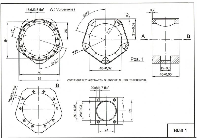 5 cylinder radial engine | Martin Ohrndorf Modellbau on