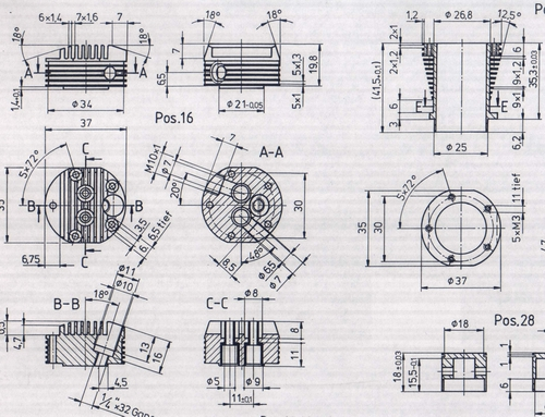 on Engine Exploded View Drawing